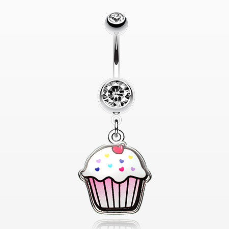 Cute Cupcake Belly Ring-Clear