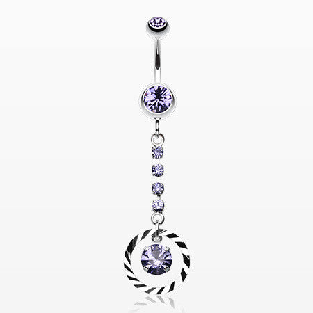 Eternity Gem Sparkle Belly Ring-Tanzanite