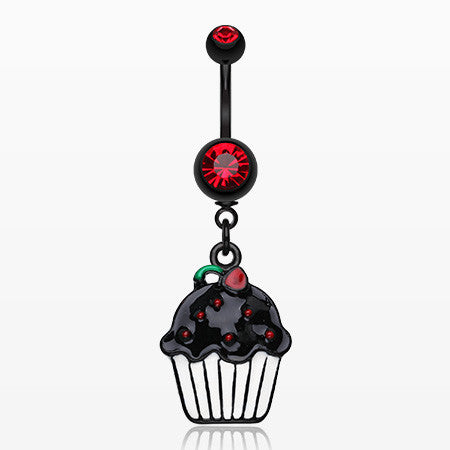 Blackline Sweet Cupcake Belly Ring-Red