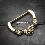 Golden Rose Garden Icon Nipple Clicker-Gold