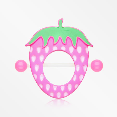 A Pair of Strawberry Delight Bio Flexible Nipple Shield Ring-Pink