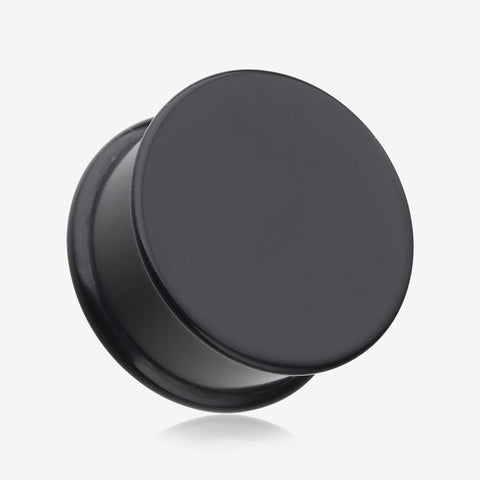 A Pair Of Soft Silicone Double Flared Plug-Black