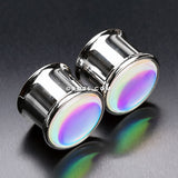 A Pair of Iridescent Revo Double Flared Ear Plug