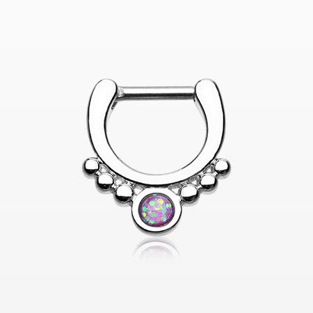 Classic Opal Grandiose Septum Clicker-Purple