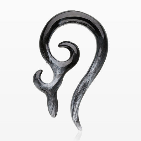 A Pair of Devil's Horn Acrylic Ear Gauge Taper Hanger-Black