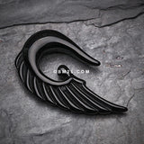 A Pair of Fallen Angel Acrylic Ear Gauge Taper Hanger-Black