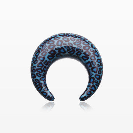 A Pair of Cheetah Print Acrylic Buffalo Taper-Blue