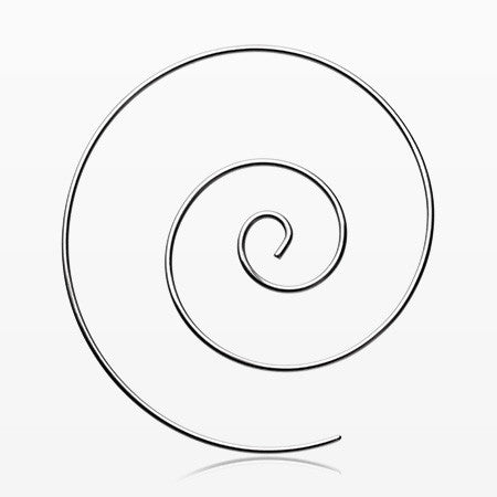 A Pair of Multi Spiral Large Steel Earring-Steel