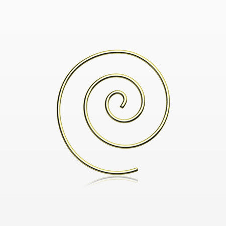 A Pair of Golden Spiral Coiled Earring-Gold
