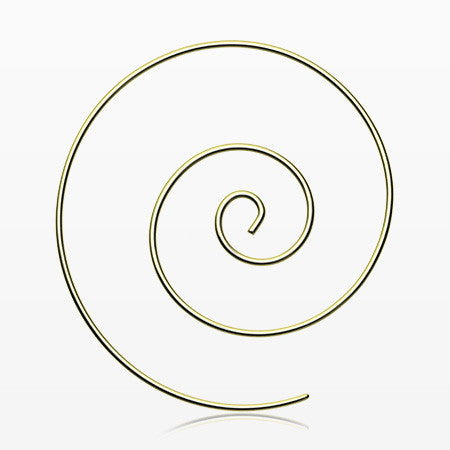 A Pair of Large Golden Spiral Coiled Earring-Gold
