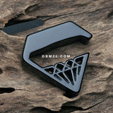 A Pair of Urban Black Diamond Acrylic Hanger Plug-Black