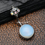 Bali Aurora Opalite Cabochon Belly Button Ring
