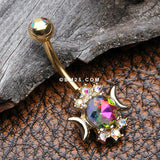 Golden Celestial Sparkle Essence Belly Button Ring