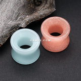 A Pair of Glow in the Dark Synthetic Stone Double Flared Tunnel Plug-Pink