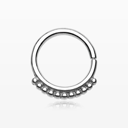Antique Bali Beads Septum Twist Loop Ring