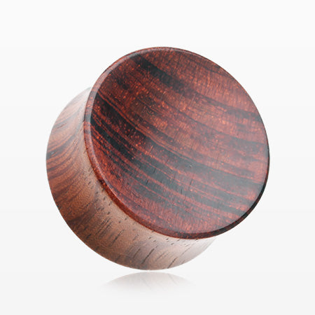 A Pair of Sappan Wood Concave Organic Double Flared Plug