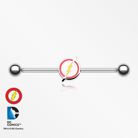 The Flash Steel Industrial Barbell-Red