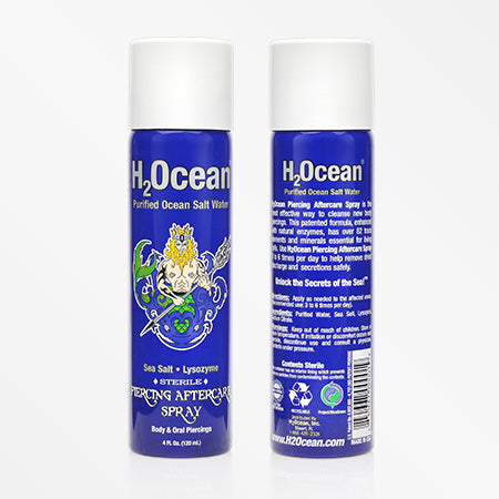 H2Ocean Purified Ocean Salt Water Piercing Aftercare Spray (4 Fl Oz)