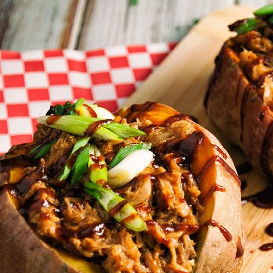 BBQ Pork Sweet Potatoes