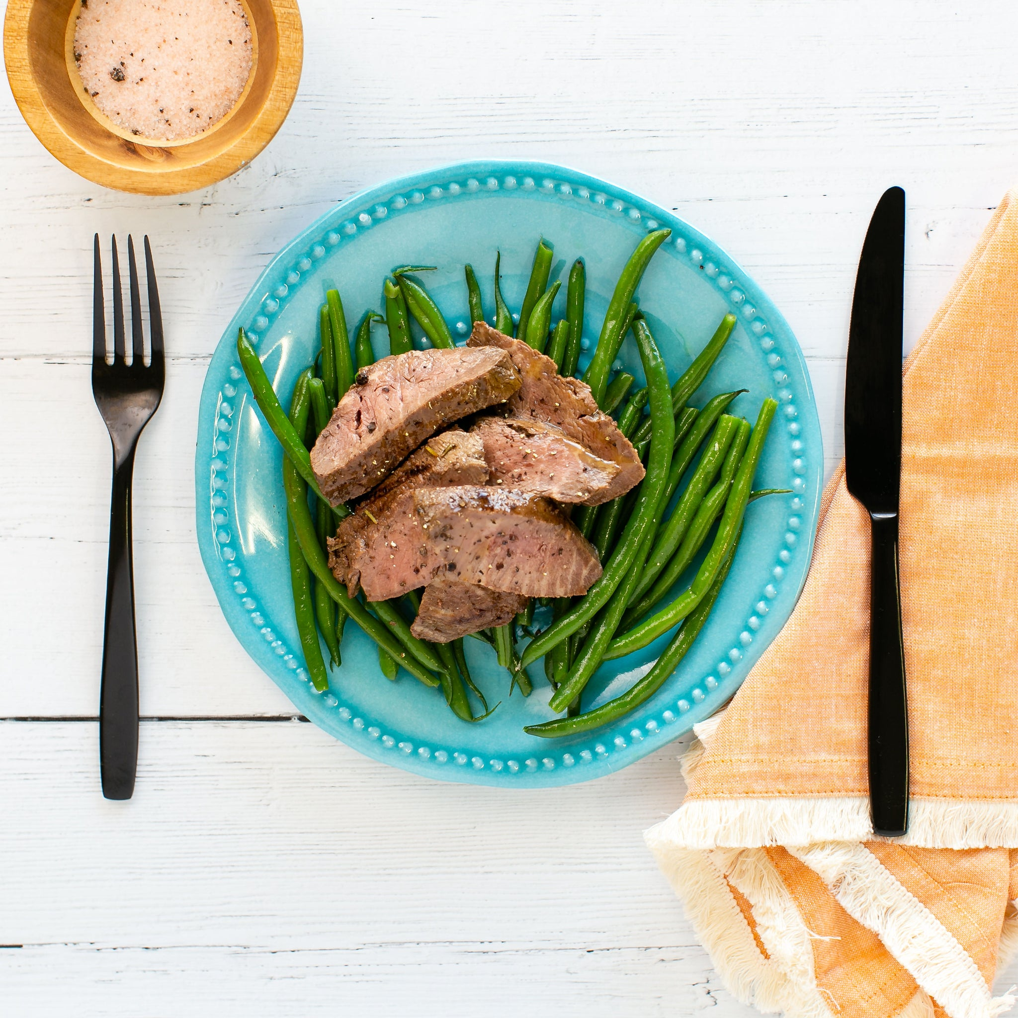 Steak, Green Beans
