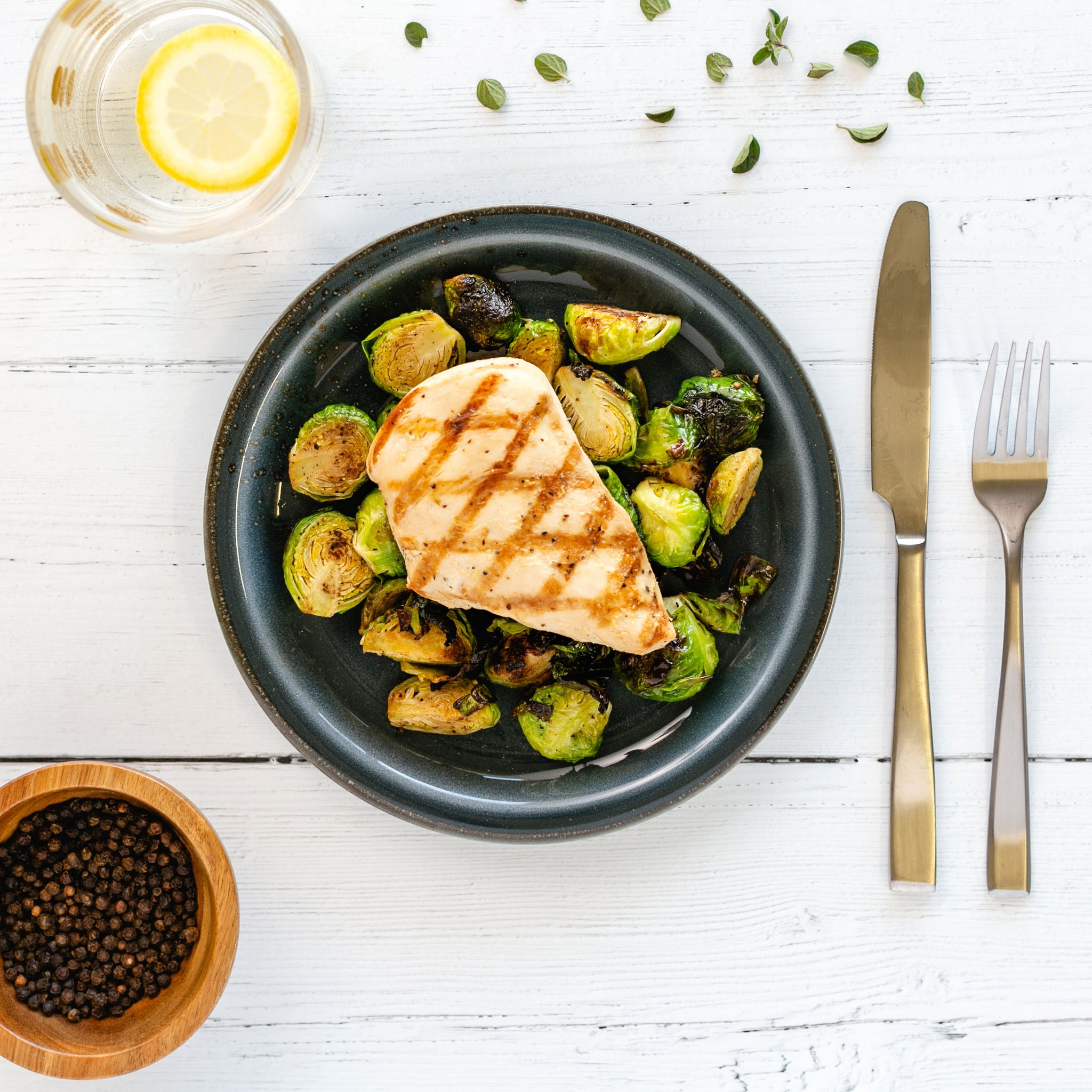 Chicken, Brussels Sprouts