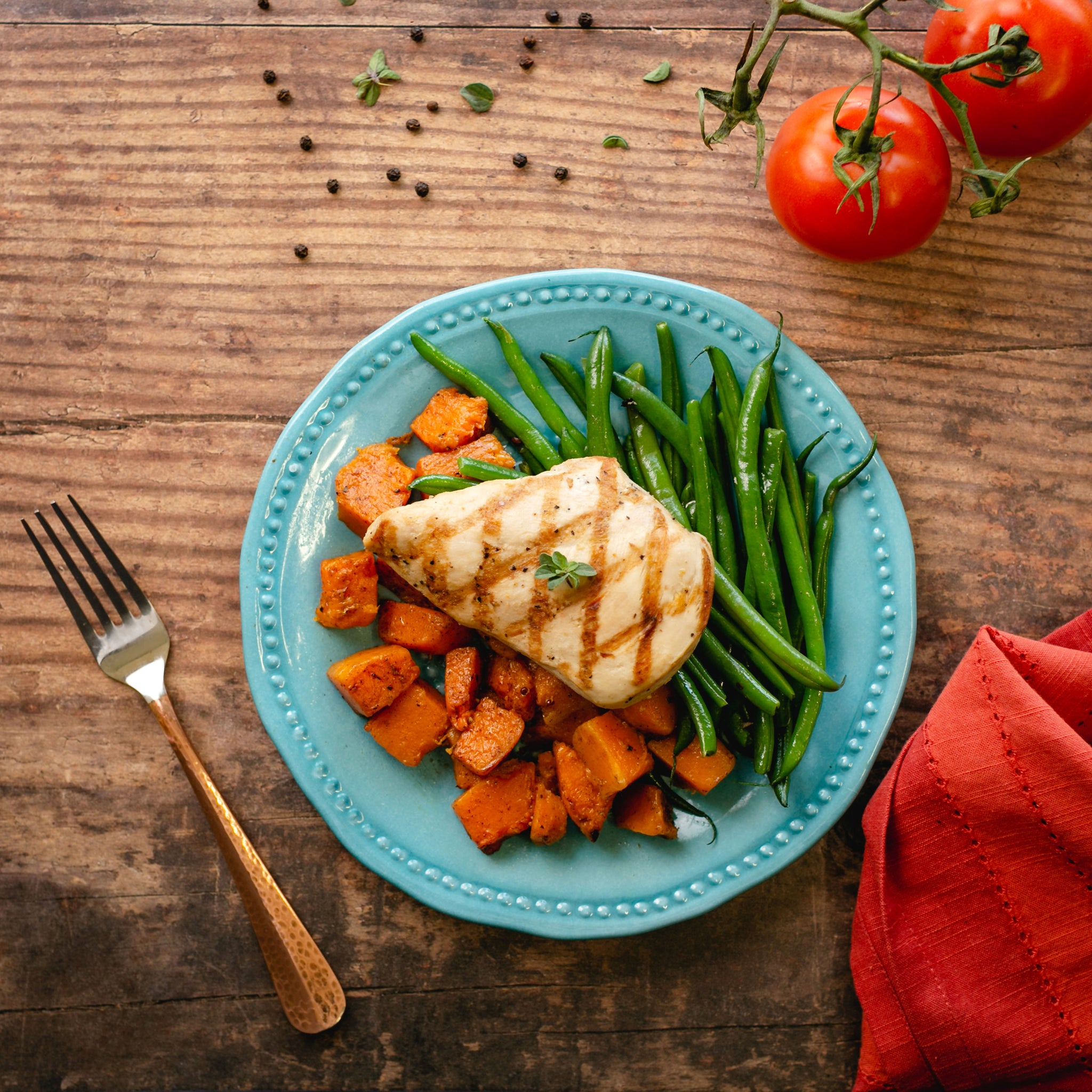 Chicken, Sweet Potato, Green Beans