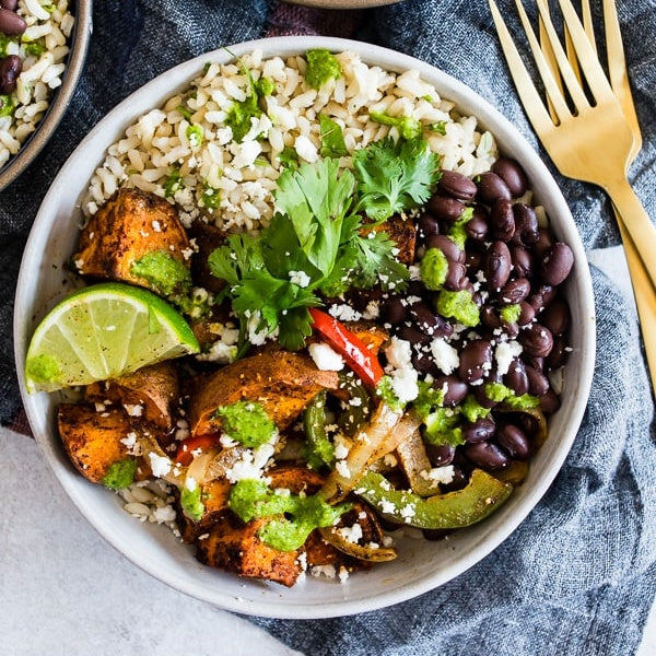 Sweet Potato Burrito Bowl