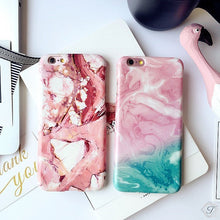 Pink & Red iPhone Marble Case