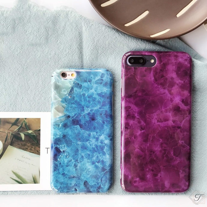 Glossy Ocean and Charming Purple iPhone Case