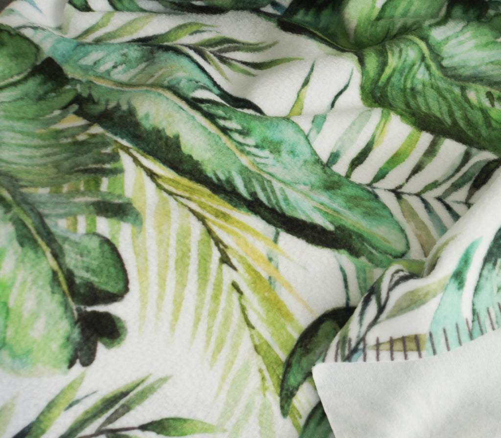 Banana Leaf Fleece Baby Blanket