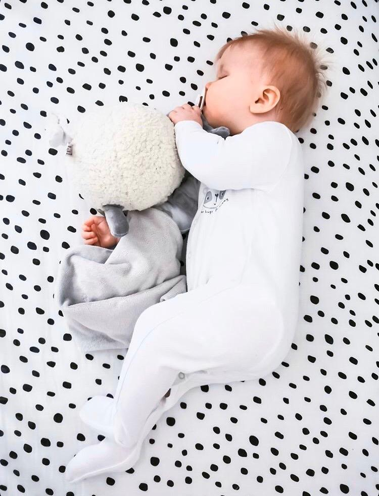 Dalmatian Dot Muslin Fitted Cot Sheet