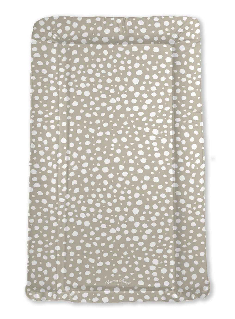 Changing Mat Taupe Spotty