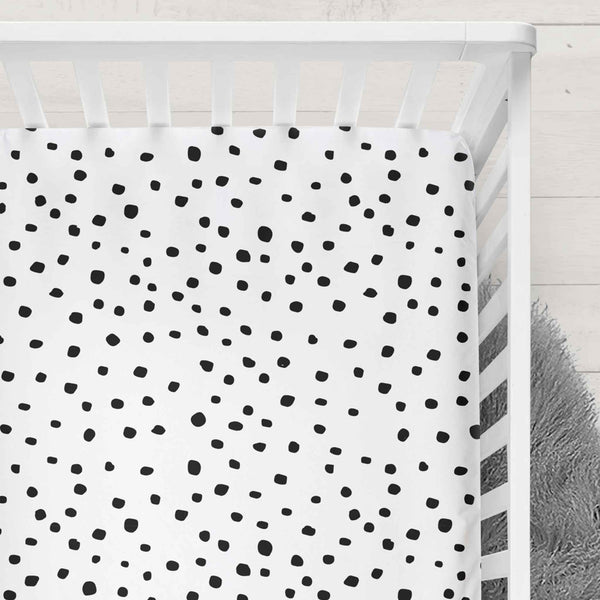 Muslin Fitted Cot Sheet Dotty
