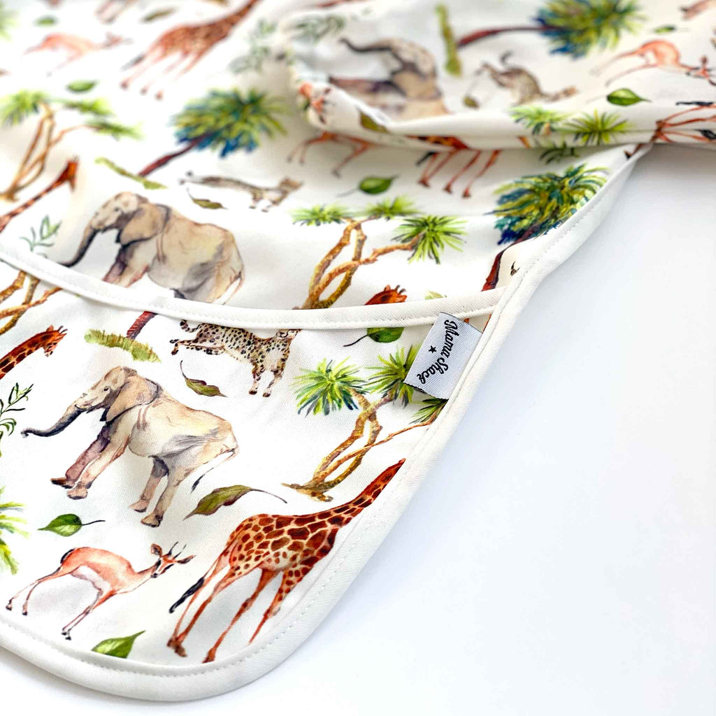 Long Sleeve Coverall Bib - Wild Safari