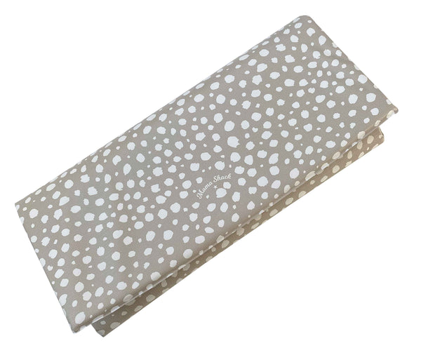 Travel Changing Mat Taupe Spotty