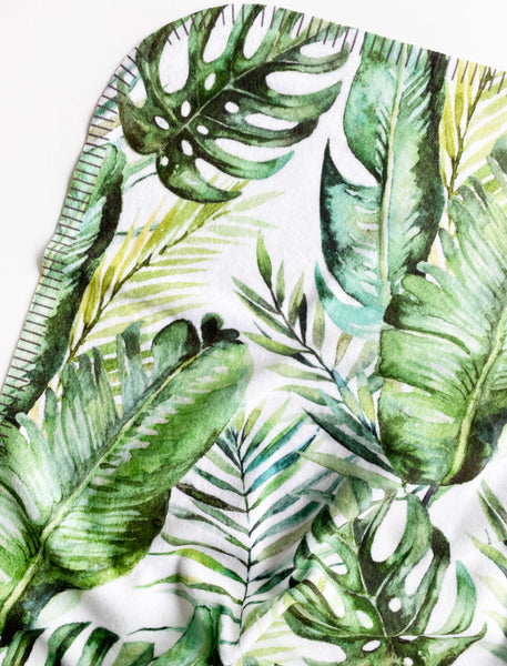 Fleece Baby Blanket Banana Leaf