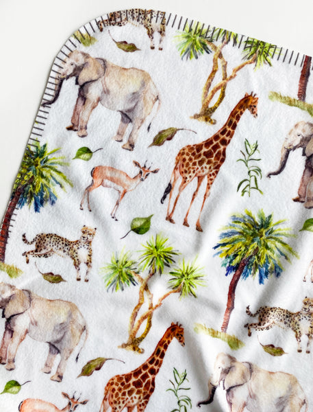Fleece Baby Blanket Wild Safari