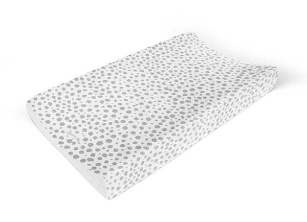 Anti Roll Changing Mat Grey Spotty