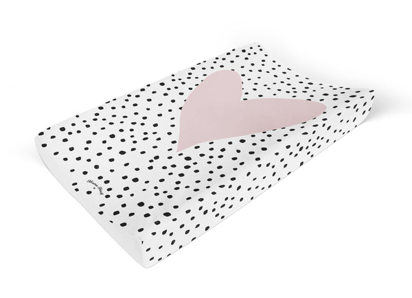 Confetti Heart Anti Roll Changing Mat