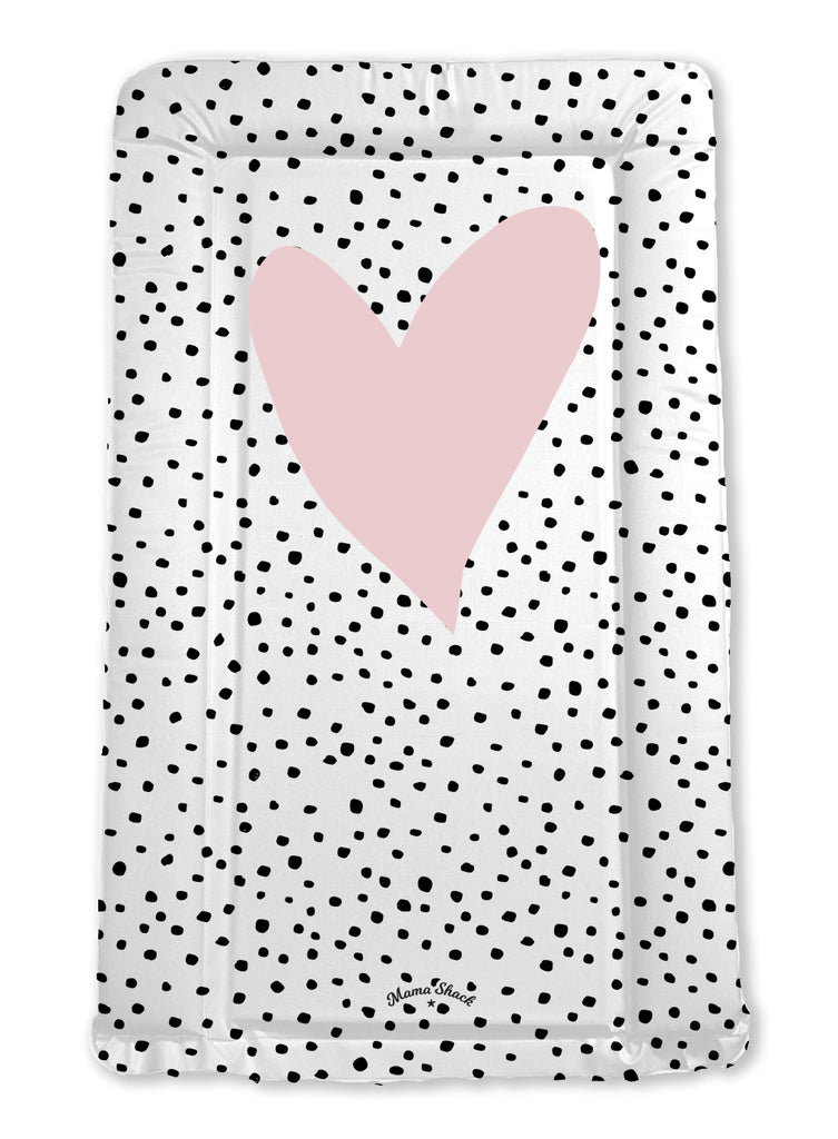 Confetti Heart Personalised Baby Changing Mat - All Colours