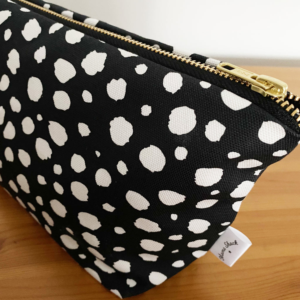 Spotty Black Changing Bag Pouch
