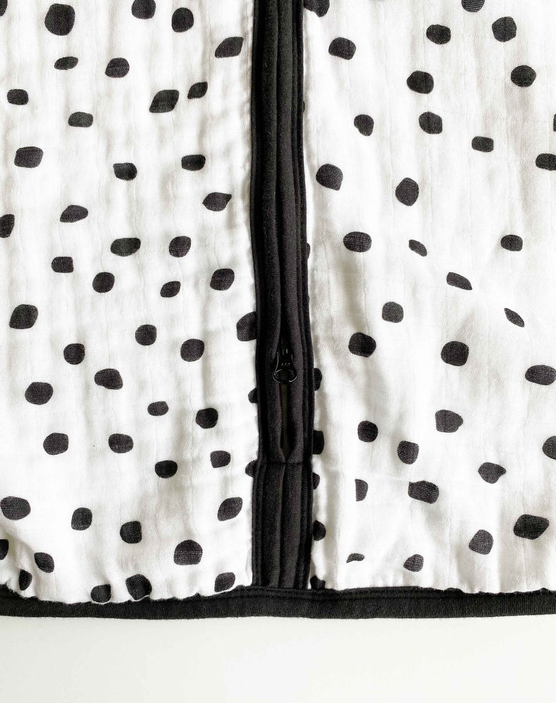 Muslin Baby Sleeping Bag - Dotty