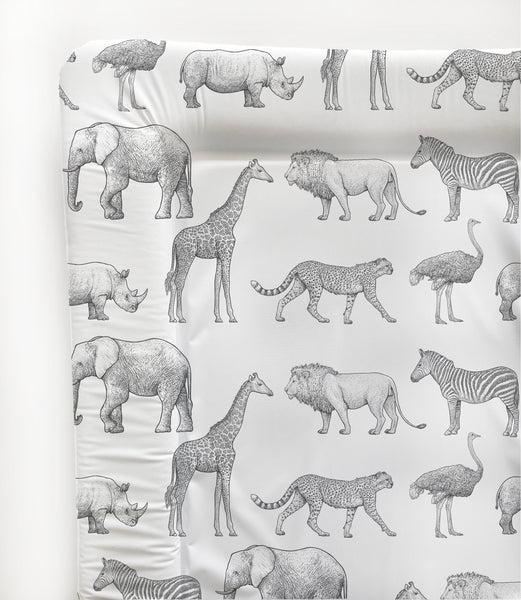 Animal Safari Baby Changing Mat