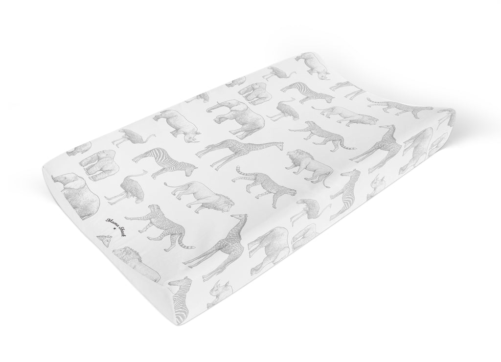 Animal Safari Anti Roll Changing Mat