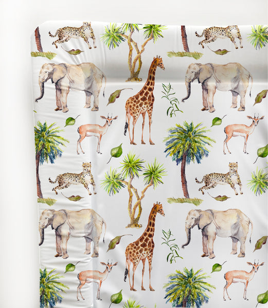 Wild Safari  Animals Baby Changing Mat