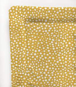 Mustard Spotty Standard Changing Mat