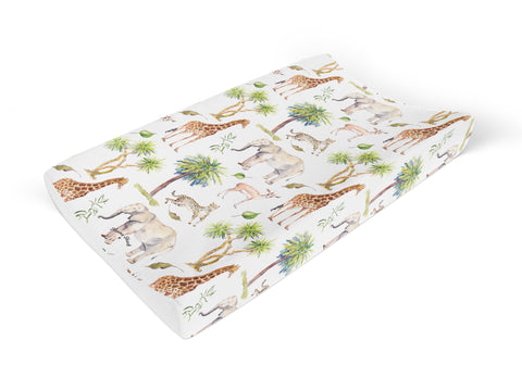 Wild Safari Wedge Personalised Baby Changing Mat