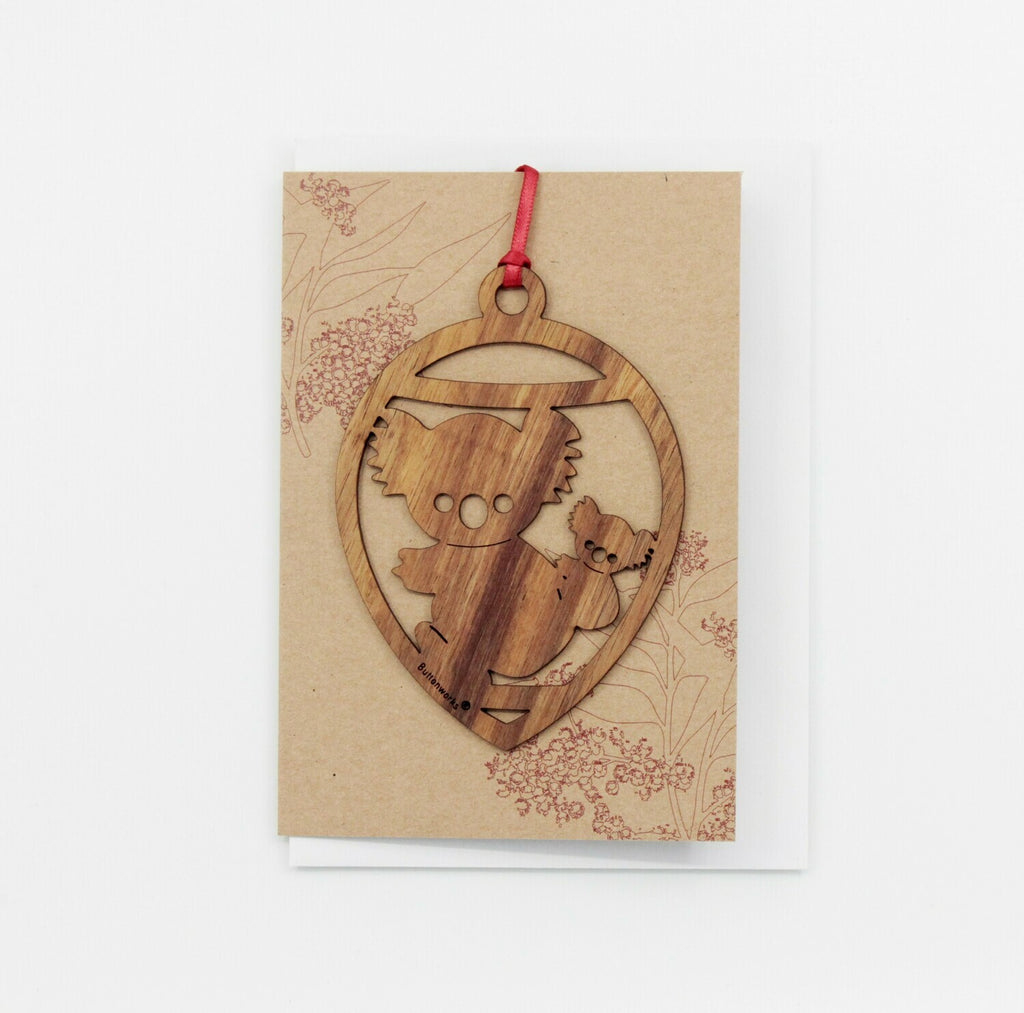 Buttonworks - Timber Christmas Ornament Card