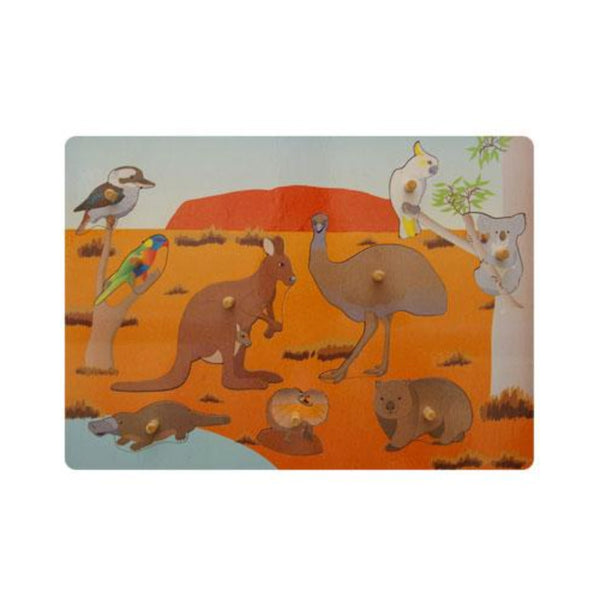 Wood Puzzles - Peg Puzzle - Australian Animals