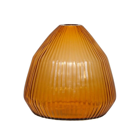 Brian Tunks - Cut Glass Conical Vase - Small